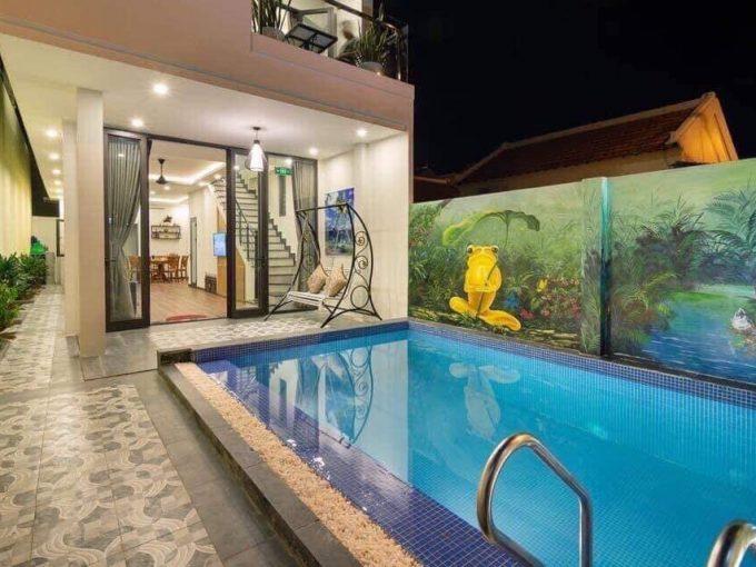 z2138748575526 f0fc812edc5d2ffc48625042b8f2a711 Funky Four Bedrooms Villa For Rent Near An Bang Beach Hoi An