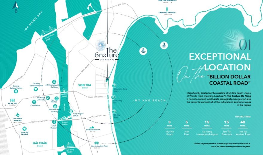 Map English 6Nature - Danang Real Estate - Beachfront luxury condo for sale - Stunning location