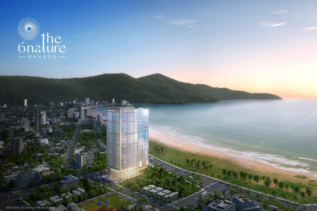 v01 aerial view 2 6Nature - Danang Real Estate - Beachfront luxury condo for sale - Stunning location