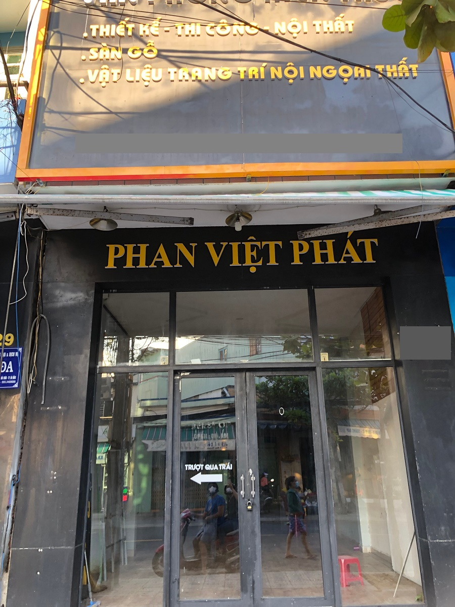 Commercial space for rent on Nui Thanh street